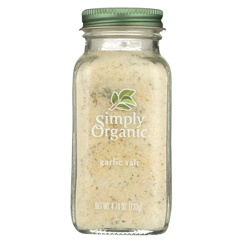 Simply Organic Garlic Salt - Organic - 4.7 Oz