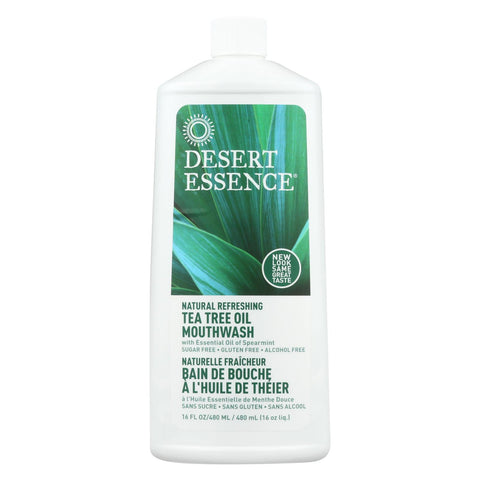 Desert Essence - Natural Refreshing Tea Tree Oil Mouthwash - 16 Fl Oz