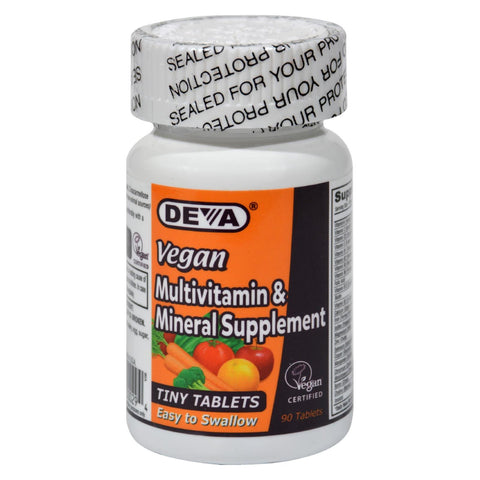 Deva Vegan Vitamins - Multivitamin And Mineral Supplement - 90 Tiny Tablets