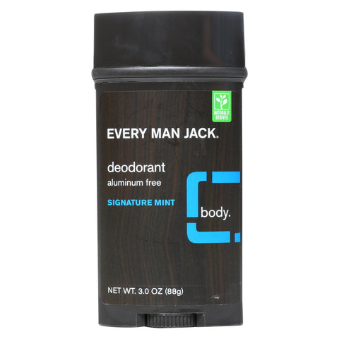 Every Man Jack Body Deodorant - Signature Mint - Aluminum Free - 3 Oz