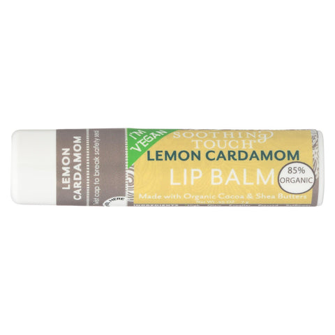 Soothing Touch Lip Balm - Vegan - Lemon Cardamom - .25 Oz - Case Of 12