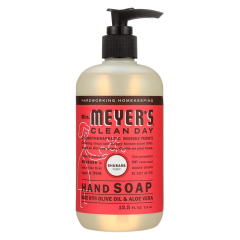Mrs. Meyer's Clean Day - Liquid Hand Soap - Rhubarb - 12.5 Fl Oz - Case Of 6