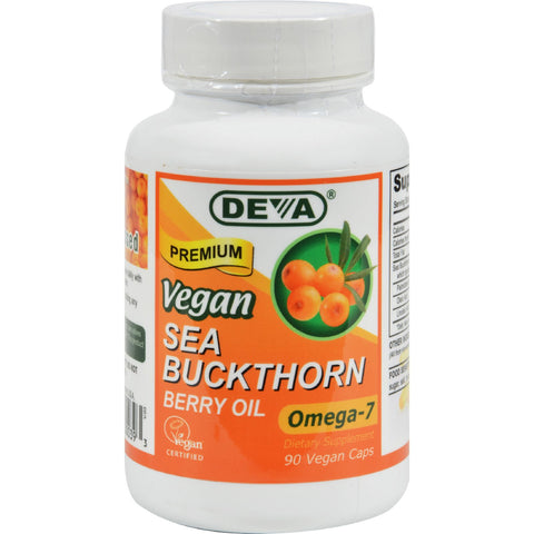 Deva Vegan Vitamins - Sea Buckthorn Oil Vegan - 90 Vegan Capsules