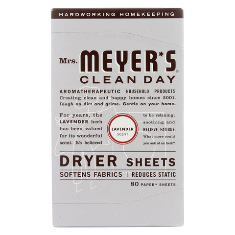 Mrs. Meyer's Clean Day - Dryer Sheets - Lavender - 80 Sheets