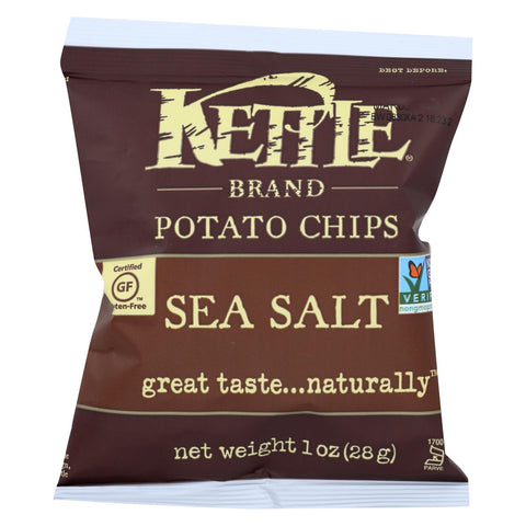 Kettle Brand Potato Chips - Lightly Salted - Case Of 72 - 1 Oz.