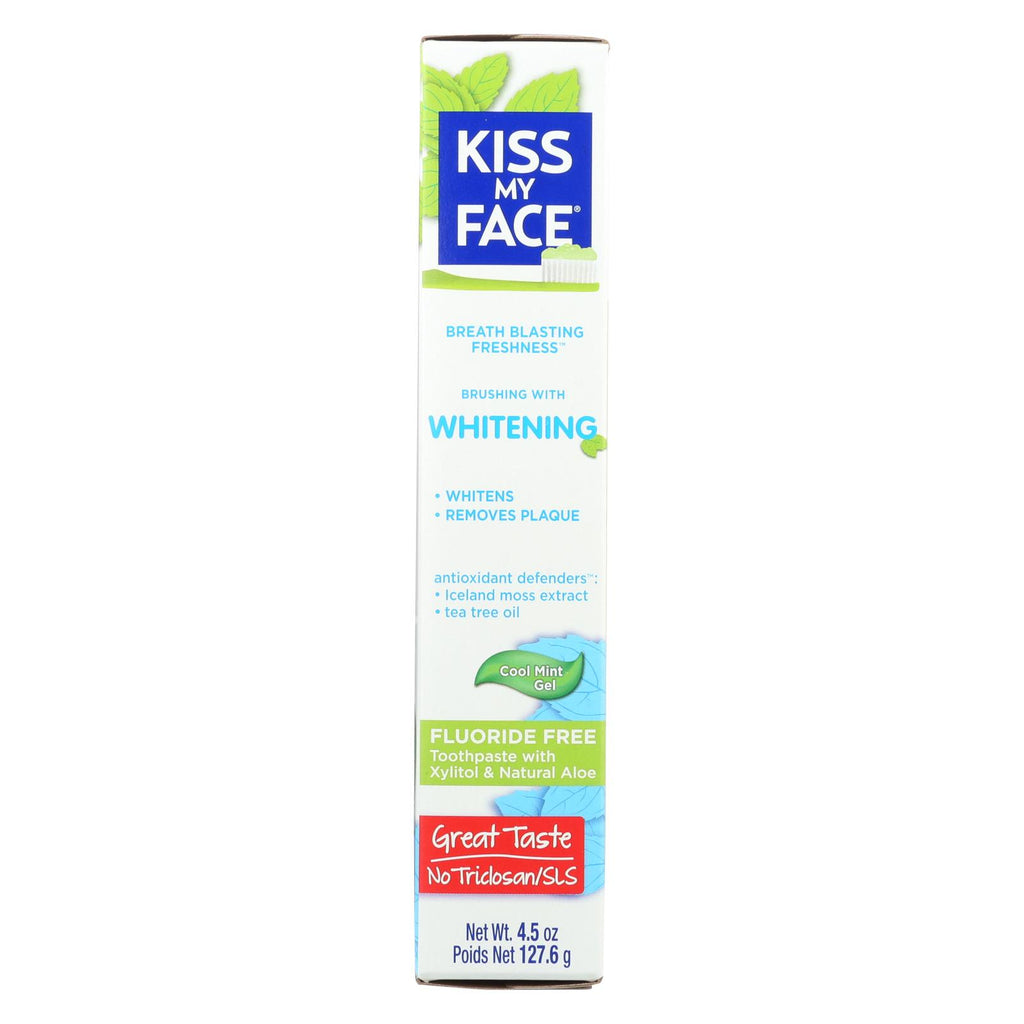Kiss My Face Toothpaste - Whitening - Fluoride Free - Gel - 4 5 Oz