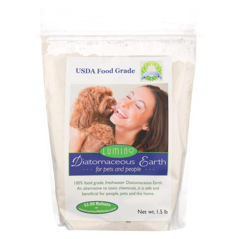 Lumino Home Diatomaceous Earth - Food Grade - Pets And People - 1.5 Lb