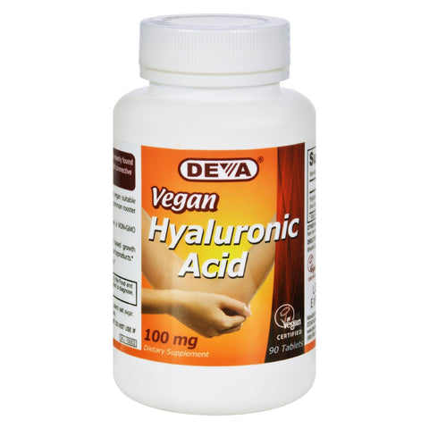 Deva Vegan Vitamins - Hyaluronic Acid - 100 Mg - Vegan - 90 Tablets