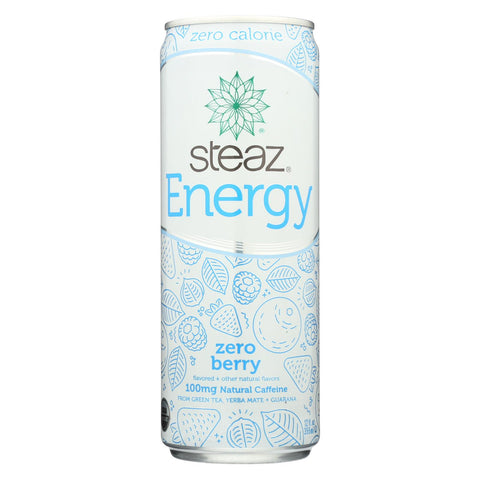 Steaz Zero Calorie Energy Drink - Berry - Case Of 12 - 12 Fl Oz.