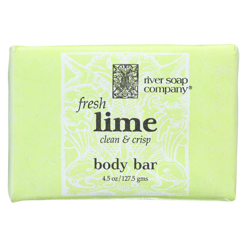 River Soap Company Soap - Fresh Lime Bar - 4.5 Oz.
