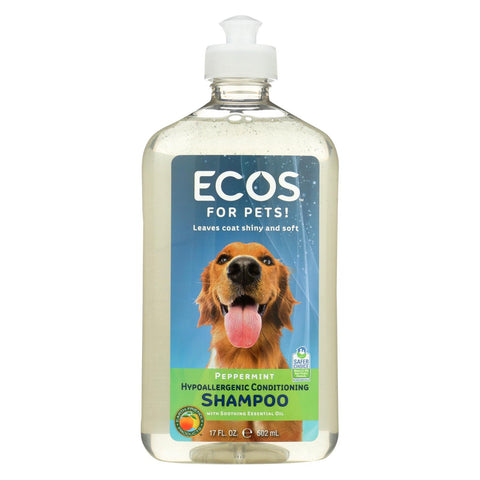 Ecos - Hypoallergenic Conditioning Pet Shampoo - Peppermint - 17 Fl Oz.