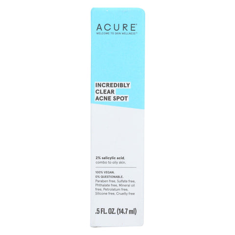 Acure - Incredibly Clear Acne Spot - .5 Fl Oz
