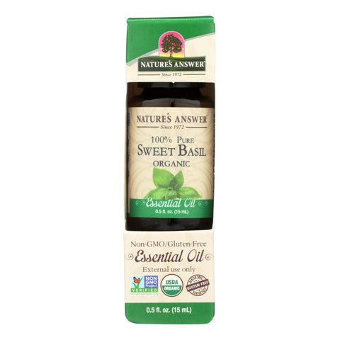 Nature's Answer - Organic Essential Oil - Sweet Basil - 0.5 Oz.