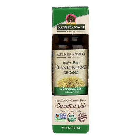Nature's Answer - Organic Essential Oil - Frankincense - 0.5 Oz.