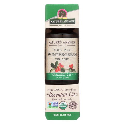 Nature's Answer - Organic Essential Oil - Wintergreen - 0.5 Oz.