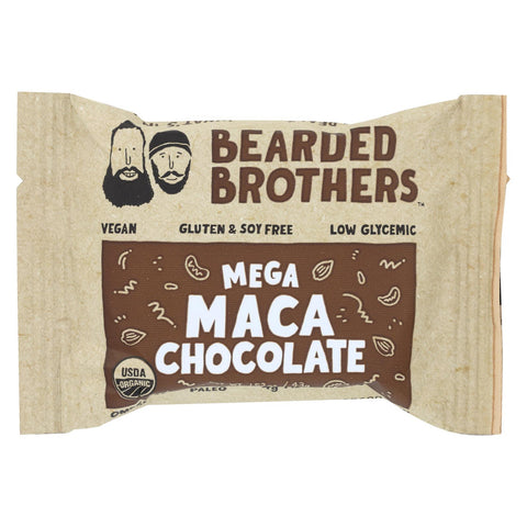Bearded Brothers - Energy Bar - Mega Maca Chocolate - Case Of 12 - 1.52 Oz.