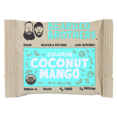 Bearded Brothers - Energy Bar - Colossal Coconut Mango - Case Of 12 - 1.52 Oz.