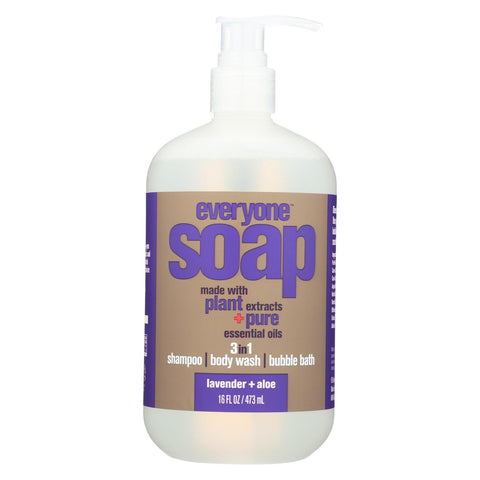 Everyone Soap - 3 In 1 - Lavender - Aloe - 16 Fl Oz
