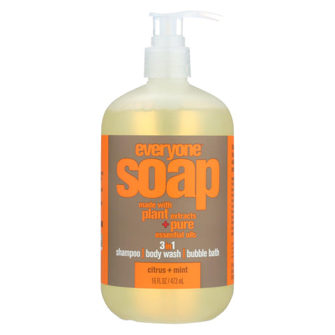Everyone Soap - 3 In 1 - Citrus - Mint - 16 Fl Oz