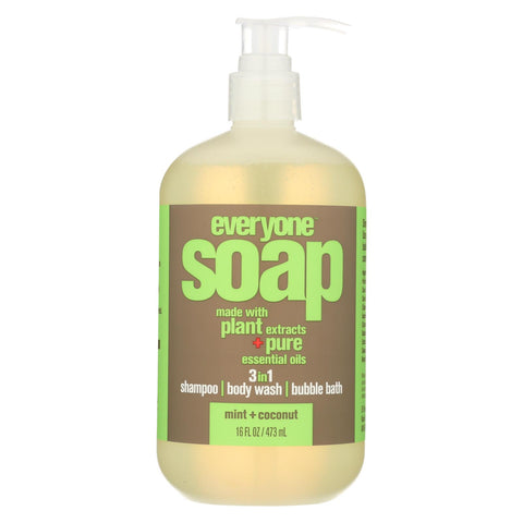 Everyone Soap - 3 In 1 - Mint - Coconut - 16 Fl Oz