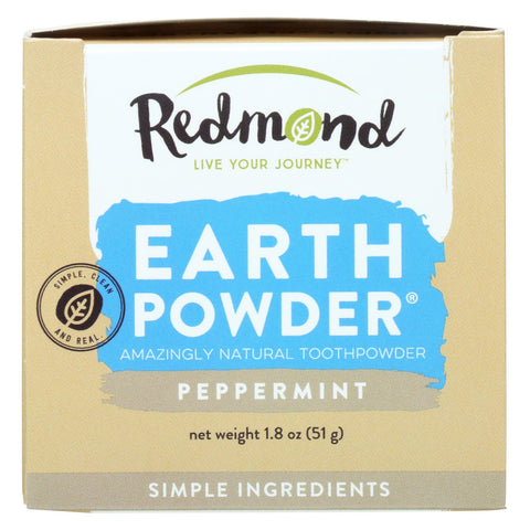 Redmond Earthpowder Toothpowder, Peppermint  - 1 Each - 1.8 Oz