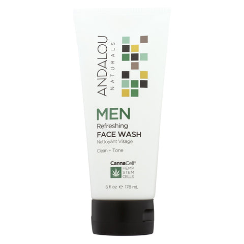 Andalou Naturals - Face Wash - Men's Refreshing - 6 Fl Oz.