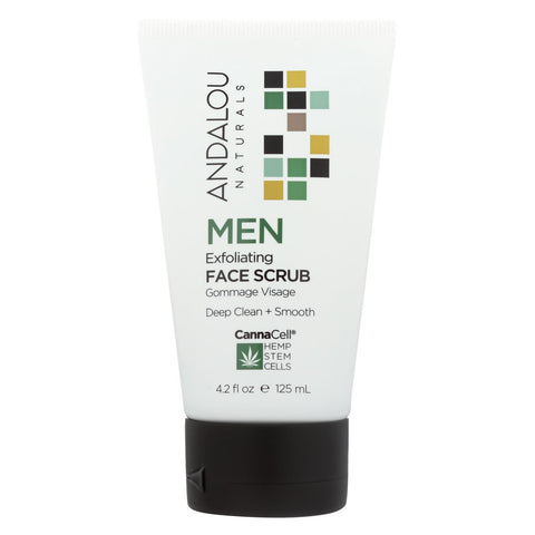 Andalou Naturals - Face Scrub - Men's Exfoliating - 4.2 Fl Oz.