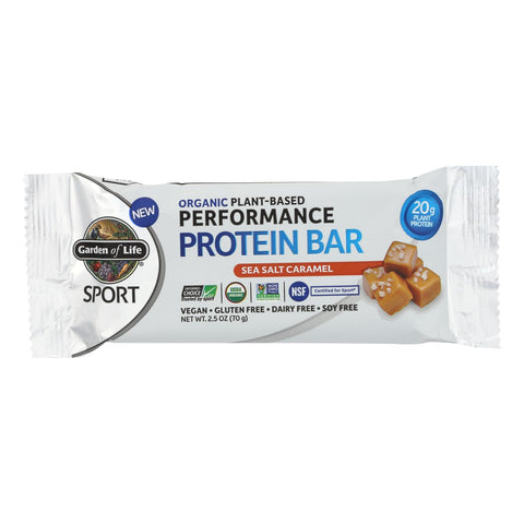 Garden Of Life - Sport Protein Bar Sea Salt Caramel - Case Of 12 - 2.46 Oz