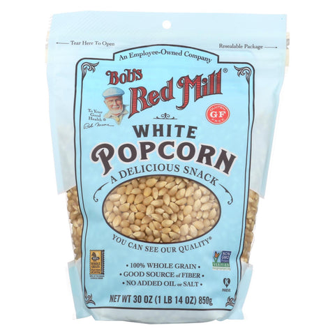 Bob's Red Mill - Popcorn - White - Case Of 4 - 30 Oz.