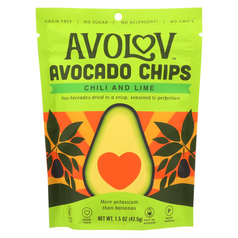 Avolov - Avocado Chips - Chili Lime - Case Of 12 - 1.5 Oz.