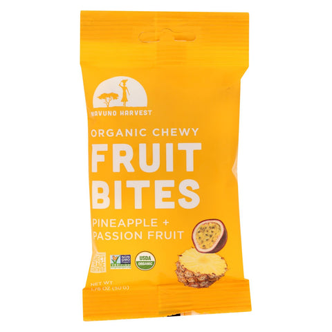 Mavuno Harvest - Organic Fruit Bites - Pineapple Passionfruit - Case Of 8 - 1.76 Oz.