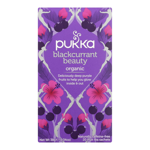 Pukka Herbal Teas - Blackcurrant Beauty - Case Of 6 - 20 Ct