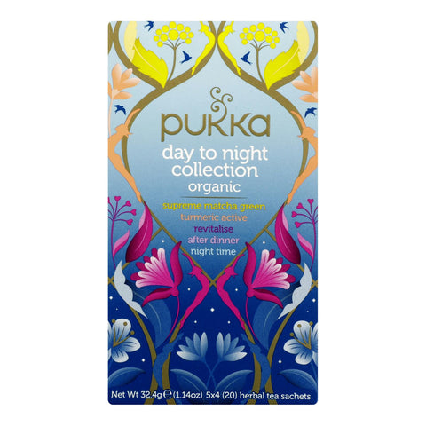 Pukka Herbal Teas -Herbal Day To Night Collection - Case Of 6 - 20 Ct