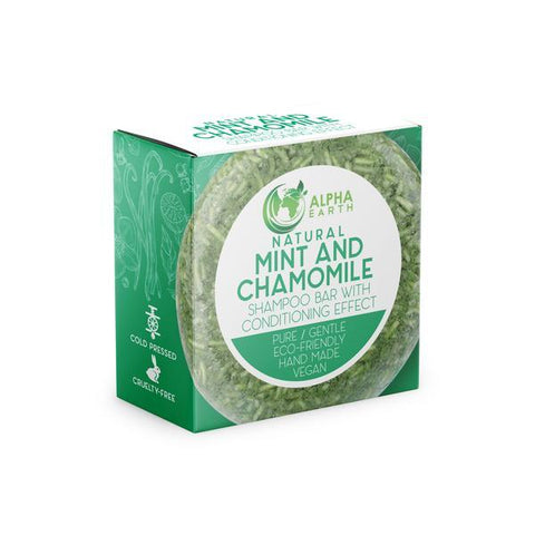 Alpha Earth 2-in-1 Shampoo Bar- MINT & CHAMOMILE