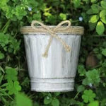 Small Iron Flower Pot- Vintage Look (1 ea.)