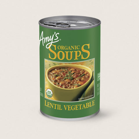 Amy's Soup- Lentil Vegetable- 14.5 oz. can