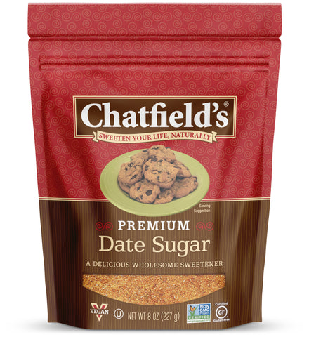 Chatfield's Premium Date Sugar 8 oz. bag