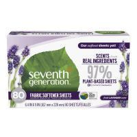 Seventh Generation Fabric Softener Sheets - Fresh Lavender Scent (pack of 1- 80 ct.)