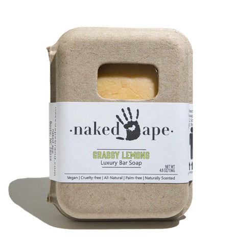 Naked Ape Luxury Bar Soap- Grassy Lemons