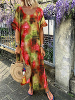 Women Fashion Tie Dyed Maxi Dress