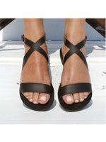 Flat Heel Daily Rubber Adjustable Buckle Sandals