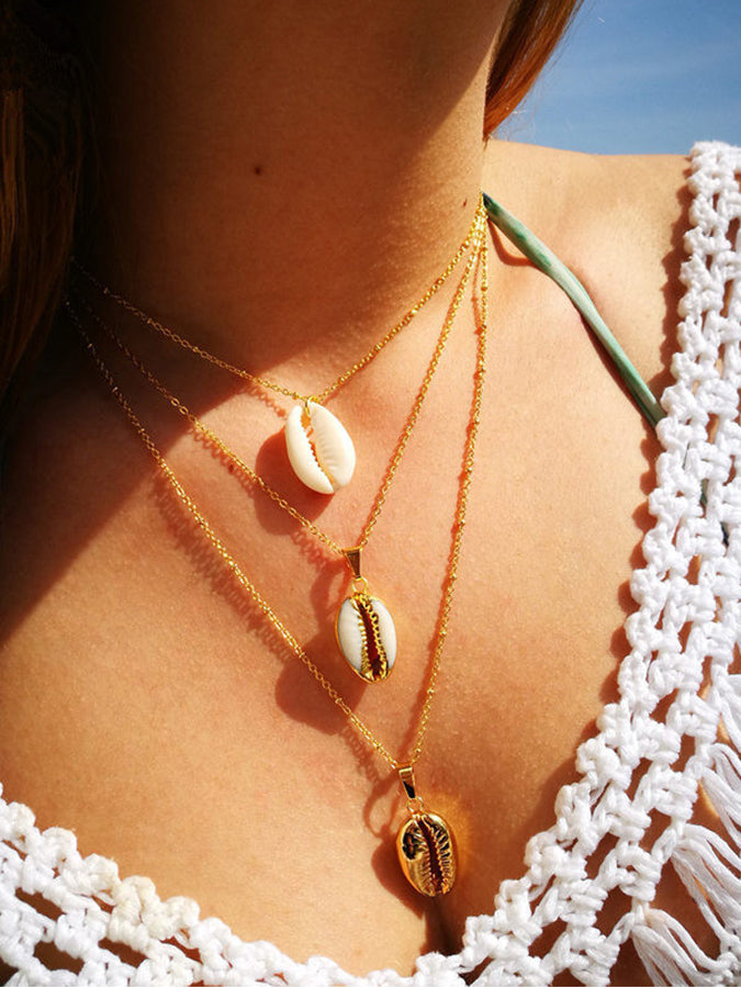 Golden Geometry Necklaces