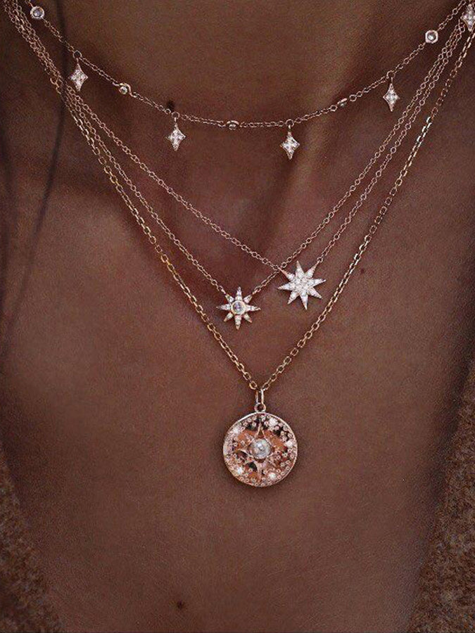 Golden Star Necklaces