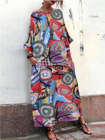 Half Sleeve Cotton-Blend Printed/dyed Dresses