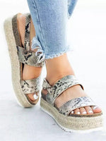 Flat Heel Adjustable Buckle Artificial Pu Spring/fall Sandals