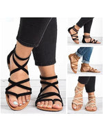 Rubber Summer Flat Heel Buckle Sandals