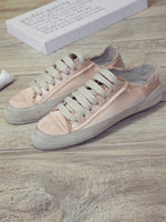 Flat Heel Lace-Up Casual All Season Shoes
