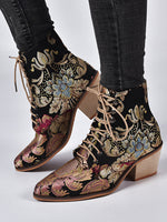 Winter Embroidery Holiday Women's Shoes
