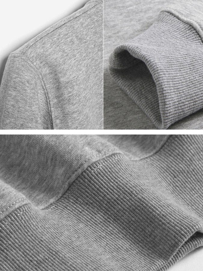 Long Sleeve Round Neck Basic Hoodies&sweatshirts
