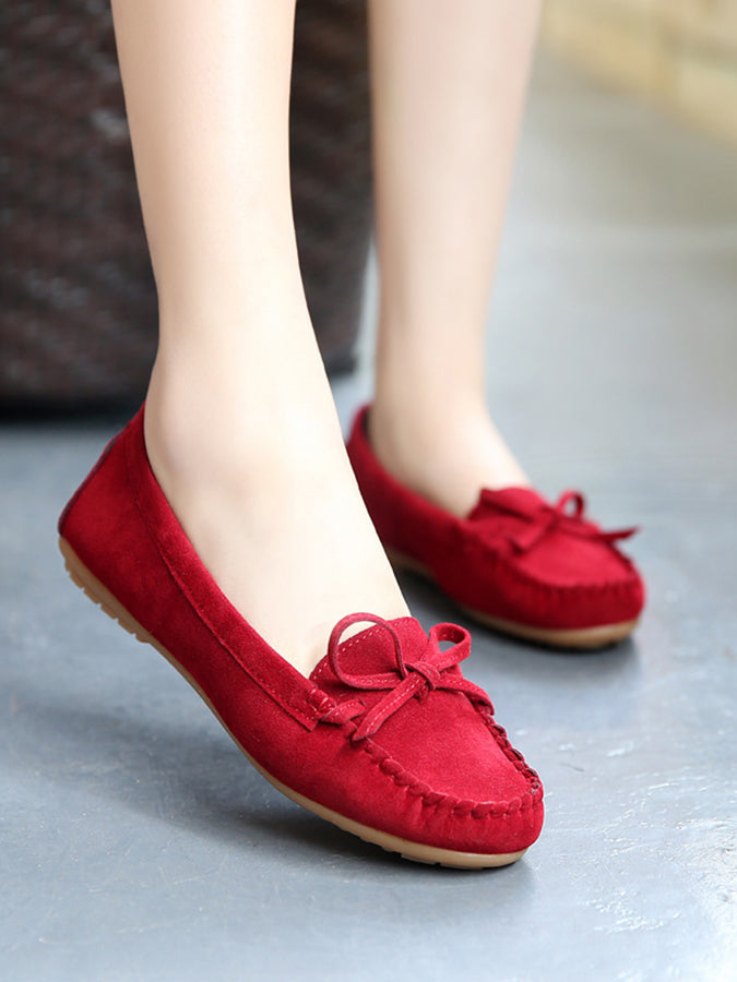 Daily Flat Heel Pu Women's Shoes